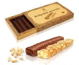 Кедровые палочки в шоколадной глазури, 190 гр.