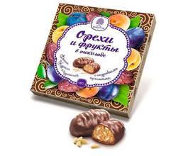 Орехи и фрукты в шоколаде (финик, чернослив, курага), 200 гр.