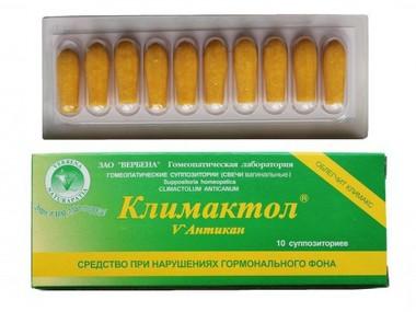 КЛИМАКТОЛ-АНТИКАН СВЕЧИ