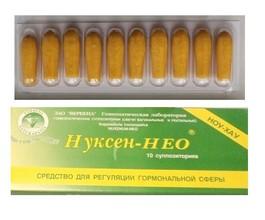 Нуксен-Нео Свечи (для регуляции гормонального фона)