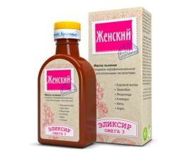 Эликсир Женский на льняном масле, 200 мл.