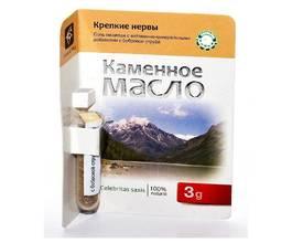 Каменное масло Крепкие нервы с бобровой струей, 3 гр.