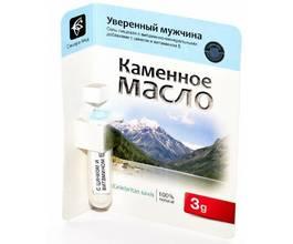 Каменное масло Уверенный мужчина с цинком и витамином Е, 3 гр.